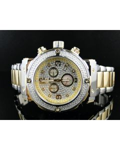 Aqua Master W#146 Yellow Stainless Steel Diamond Watch 0.25 Ct