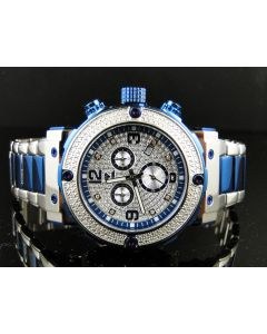 Aqua Master W#146 Blue Stainless Steel Diamond Watch 0.25 Ct