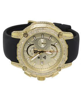 Aqua Master Yellow Gold Steel Nicky Jam Diamond Watch NJ1 5.0 Ct
