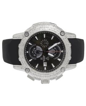 Aqua Master White Gold Steel Nicky Jam Diamond Watch NJ2 5.0 Ct