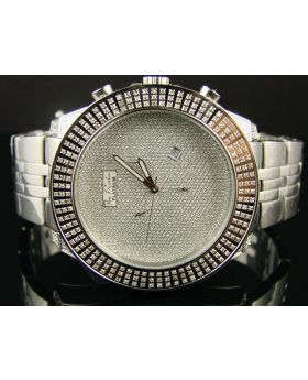 Jojo/Joe Rodeo Xl Platinum 3 Row Diamond Watch 3.75 Ct