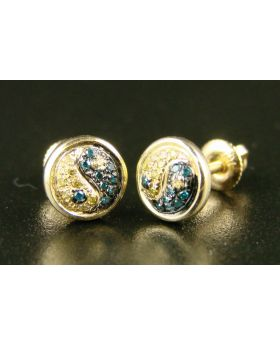 Yin Yang Canary Diamond Kc Earrings 7mm In 10K Gold