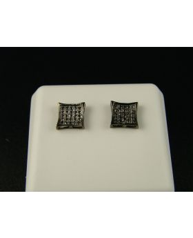 Black Gold With Black Kite Diamond Stud Earrings In 10K