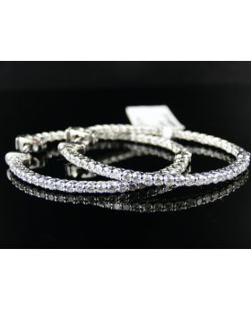 Endless Diamond Hoop Earrings in 14K (2.0ct)