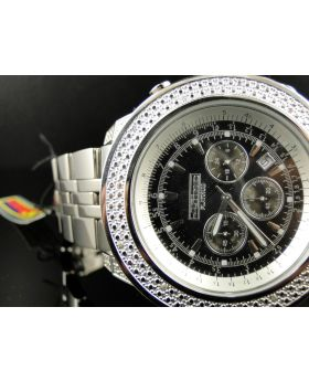 Joe Rodeo/Jojo/Jojino Black Dial 52mm Real Diamond Watch