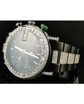 Mens Custom Diamond Gucci Watch 9.0 Ct