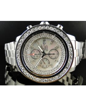 Breitling A13370 Super Avenger Stainless Steel with Diamonds (9 Ct)