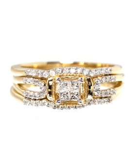 3 Piece Bridal in Yellow Gold (0.35 ct)