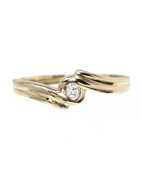 Solitaire Fashion Ring in Yellow Gold (0.05 ct)