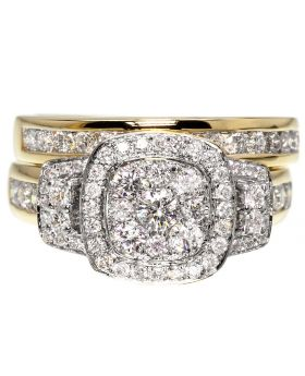 Round Diamond Bridal Set in 14k Yellow Gold (1.50 ct)