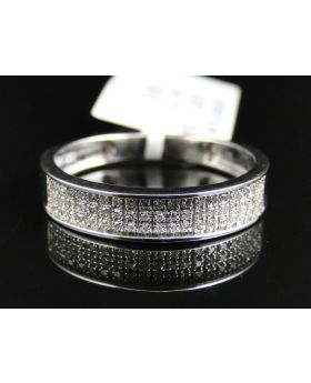 Pave Set Mens 4.75 MM Diamond Band (0.23 Ct)