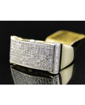 Yellow Gold White Diamond Ring with 0.75 Ct Diamonds