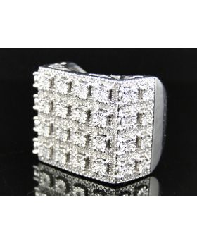Fanook Style Mens 25 MM Diamond Fashion Ring (0.75 Ct)