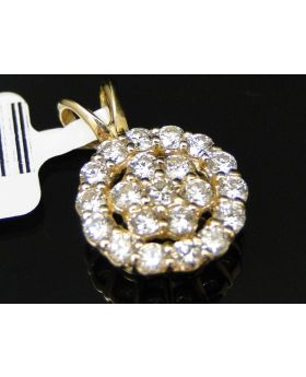 Flower Diamond Pendant in 14K Yellow Gold (1.0ct)