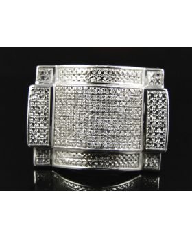 Mens 25 MM Diamond Pinky Ring (0.75 Ct)