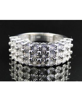 Fanook Style Mens 9 MM Diamond Fashion Band (0.15 Ct)