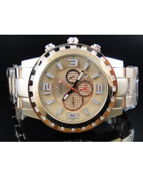Mens Rose Aqua Master Diamond Watch W#138