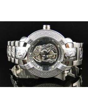 Mens Aqua Master Jesus Face Diamond Watch 96-4 W#96