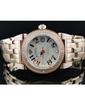 Ladies Rose Aqua Master Diamond Watch W#88J