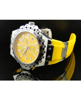 Mens Aqua Master Yellow Band Diamond Watch