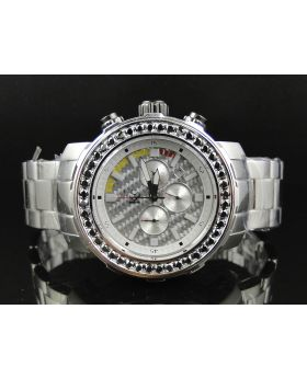 Techno Com by KC Black 45 MM Diamond Watch (4.5 Ct)