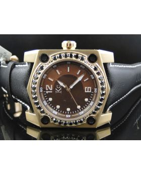 Rose Techno Com KC Chocolate Face Diamond Watch