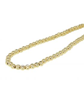10k Solid Yellow Gold Moon Cut Chain (4 mm)