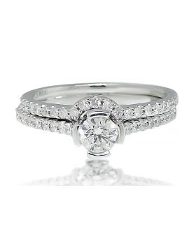 Round Cut Solitaire Diamond Engagement Ring in 14K White Gold (1.0 Ct)