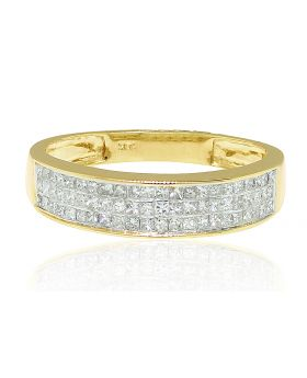 Princess Cut White Diamond Wedding Band (.80 Ct)