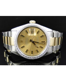 Rolex Datejust 18k 2 Tone Diamond Watch (1.5 ct)