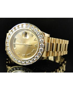 18k Yellow Gold Rolex Day-Date President with 11.2 Ct Diamond