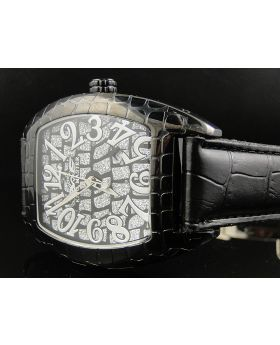 King Master Rounded Black Reptile Diamond Watch