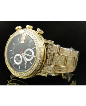 Gold PVD YA101334 Diamond Gucci Watch 9.50 Ct