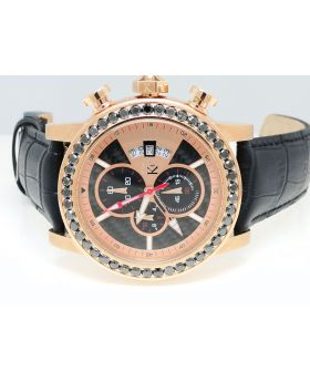 Techno Com KC Rose Black Diamond Watch