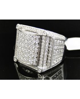 Sparkling Square Round Cut Diamond Ring (9.0 Ct)