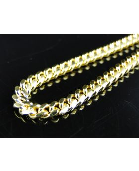 14k Solid Yellow Gold Miami Cuban Chain 4mm 24 Inches