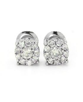 Round Cut 6 MM Studs in 14k White Gold (.33 Ct)