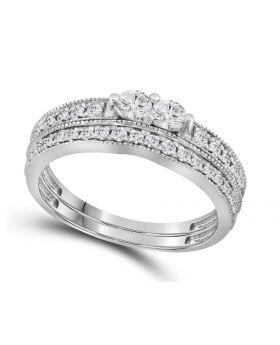 14K White Gold Forever Us Diamond Bridal Ring Set 0.75 ct