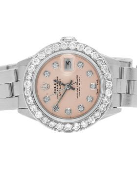 Ladies Rolex Datejust 26MM Pink Dial Dial Diamond Watch 2.5 Ct