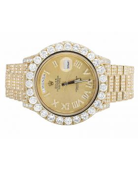 18K Yellow Gold Rolex Day-Date II 228238 President with 36.5 Ct Diamond Watch