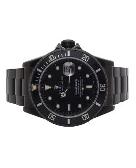 Rolex Submariner 16610 Stainless Steel with Jet Black PVD Coating