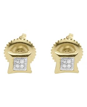 4.5mm Kite Earrings in 10k Yellow Gold (0.04 ct)