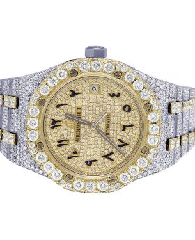 Audemars Piguet Royal Oak 18K/Steel 37MM Diamond Watch 32.75 Ct