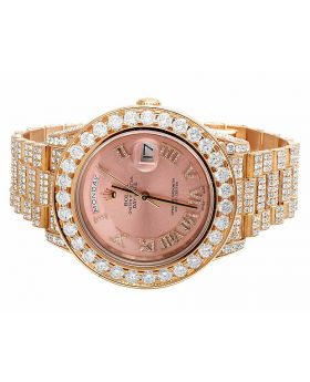 18k Rose Gold Rolex 41 MM Day-Date 2 218235 President with 37.5 Ct Diamond