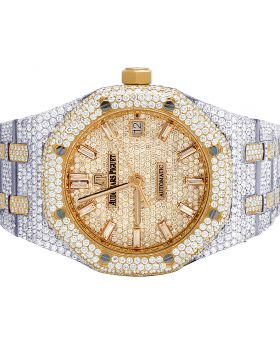 Audemars Piguet Royal Oak 18K Rose/ Steel Midsize 37MM Diamond Watch 22.35 Ct