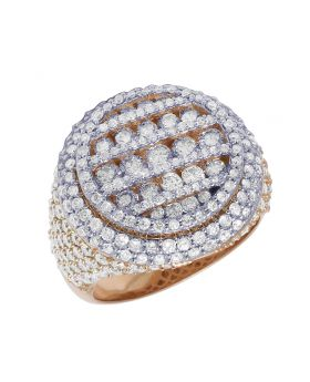 Rose Gold Round Channel Set Diamond Pinky Ring 4.75 CT