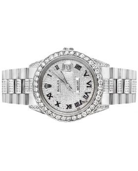 Mens Rolex Date Just with Presidential Band (10 Ct)