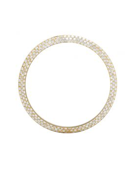 OEM 18K Yellow Gold Honeycomb Set Diamond Bezel for Rolex 40MM 2.0 Ct