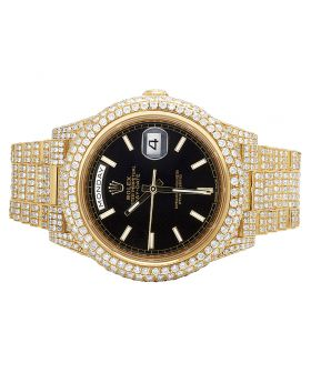 18K Yellow Gold Rolex Day-Date II 228238 President with 29.5 Ct Diamond Watch