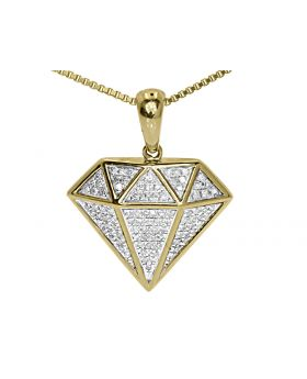 10k Yellow Gold Diamond Shaped Ladies Pendant (0.50 ct)